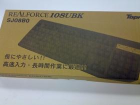 その名は東プレ REALFORCE 108UBKのパッケージというか箱